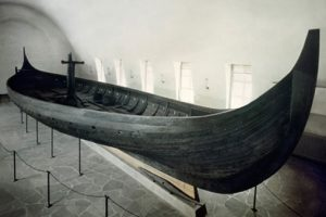 Gokstad Viking Ship in the Viking Ship Museum in Oslo, Norway