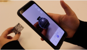Scanning an interactive cube with a smartphone