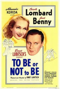 "Movie poster for ""To Be or Not To Be"" depicting the faces of the lead actor and actress."
