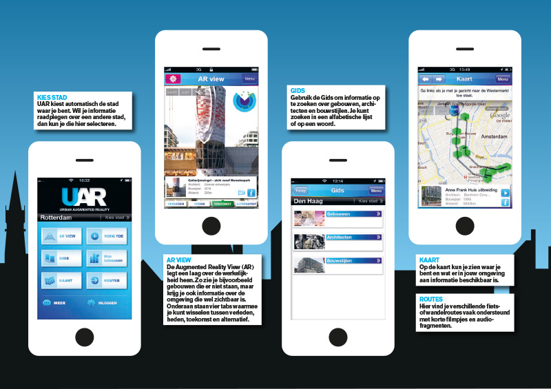Flyer for the Urban Augmented Reality (UAR) App