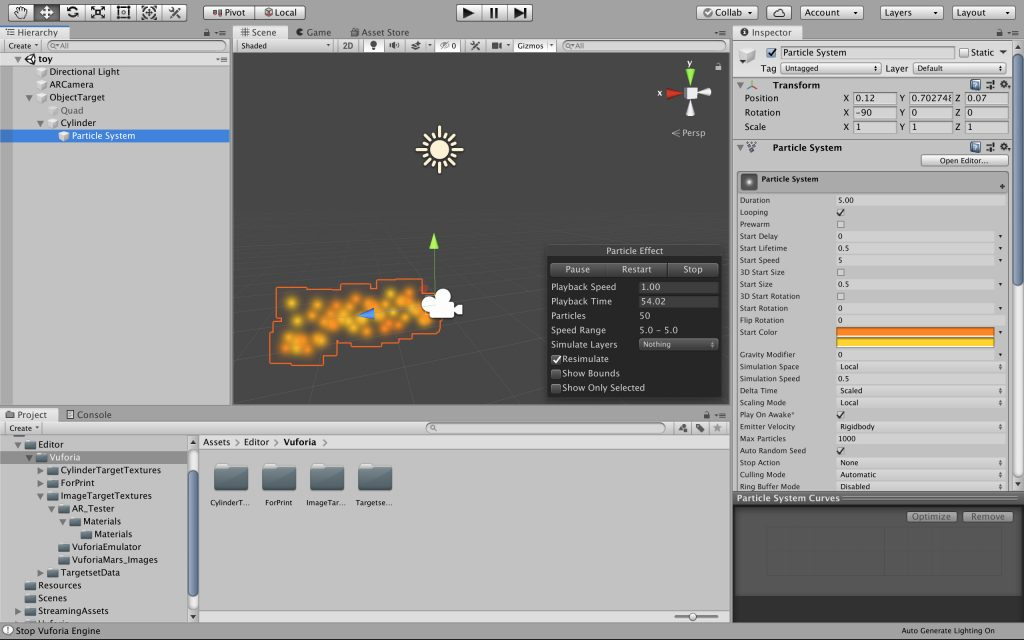 Development in Unity - Creating Media for use with a Vuforia Object Target