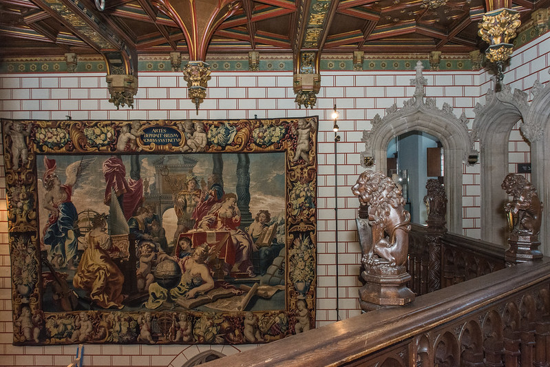 one of the 17th century tapestries of Musea Brugge at the Gruuthuse palace