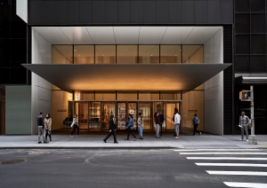 The 53rd Street entrance of the The Museum of Modern Art (Photo: Noah Kalina)