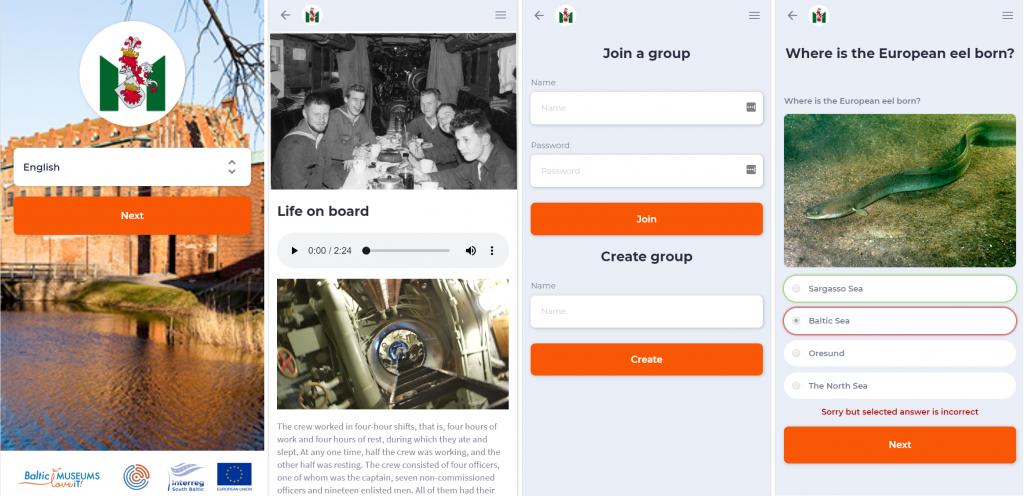 Four exemplary app views